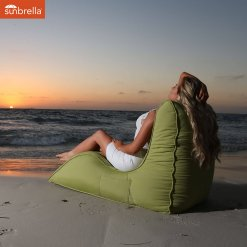 ambient lounge lime outdoor sunbrella bean bag lounger