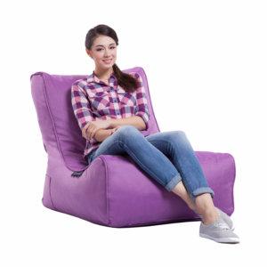 acai merlot evolution sofa bean bag with model