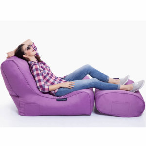 acai merlot evolution sofa bean bag with ottoman