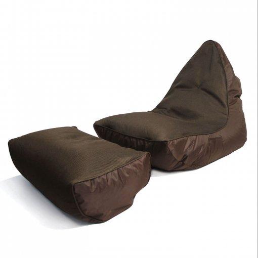 Air mesh choc-o-holic brown bean bag set top 3/4 view