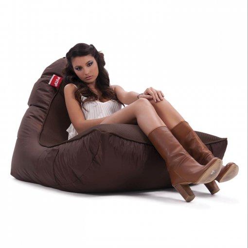 Air mesh choc-o-holic brown bean bag set with female model