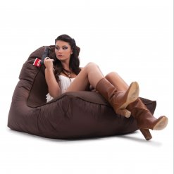 Air mesh choc-o-holic brown bean bag set with female model 2