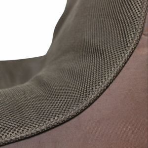 Air mesh choc-o-holic brown bean bag set mesh closeup