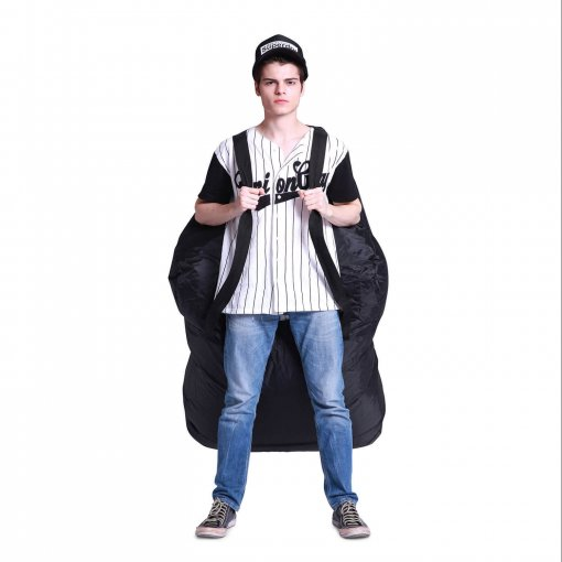 Air mesh bean bag in Gangsta Black carried front