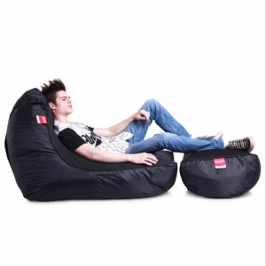 Air mesh bean bag in Gangsta Black with model
