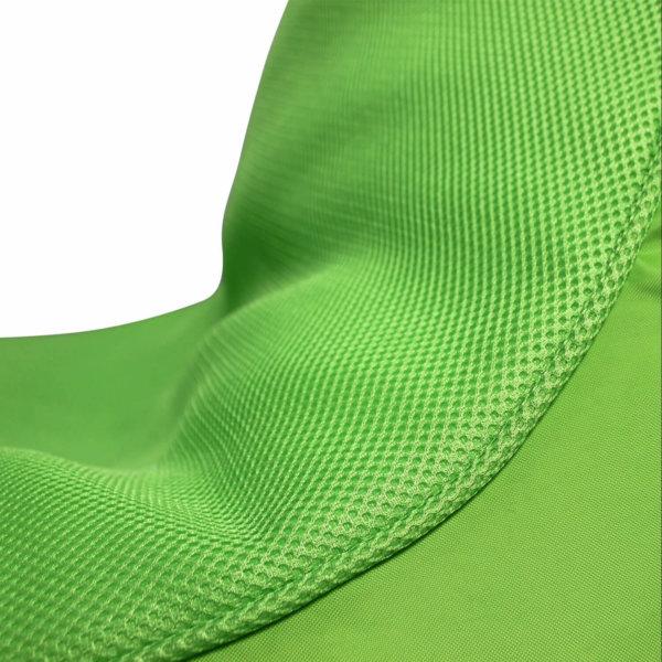 Air Mesh bean bag set in wild lime model closeup