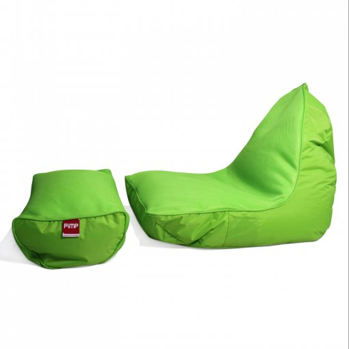 Air Mesh bean bag set in wild lime side view