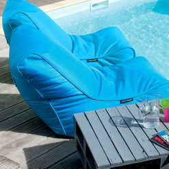 aquamarine evolution sofa bean bag pool side