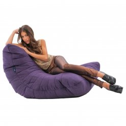 aubergine dream acoustic bean bag side view