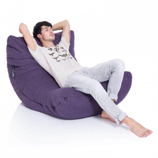 aubergine dream acoustic bean bag with model