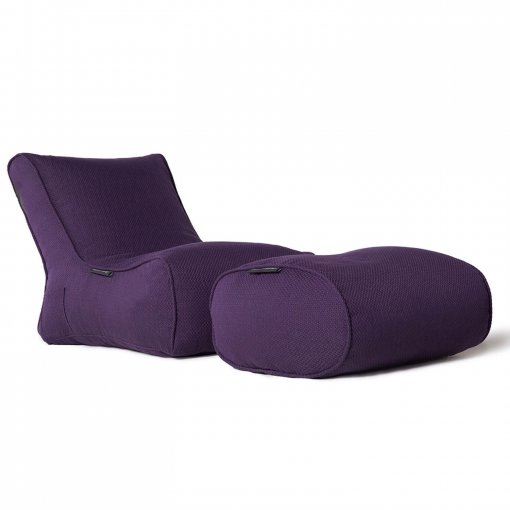 aubergine dream evolution lounger bean bag side view