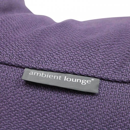 aubergine dream studio lounger bean bag detail