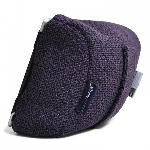 aubergine dream tech pillow bean bag back view