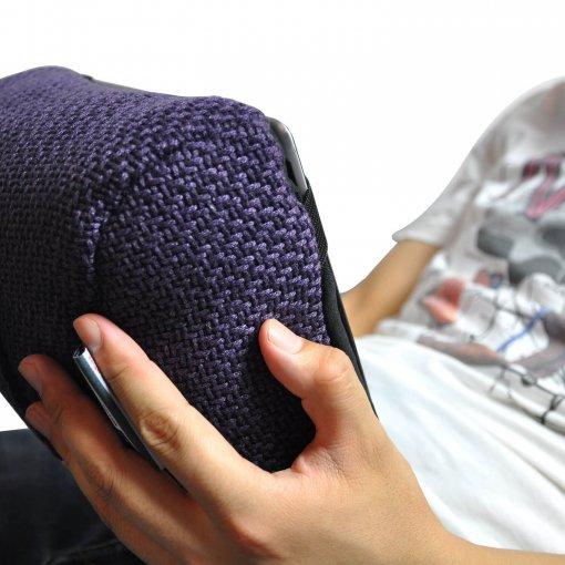 aubergine dream tech pillow bean bag when use