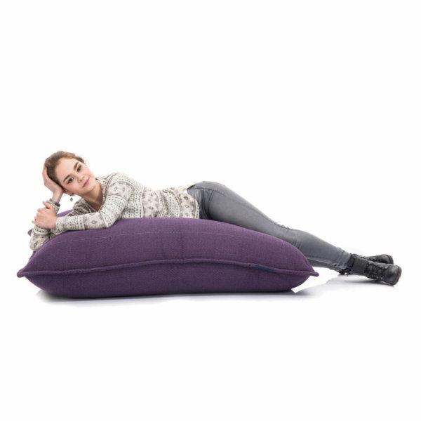 aubergine dream zen lounger bean bag for lounging