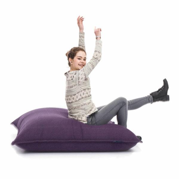 aubergine dream zen lounger bean bag on floor