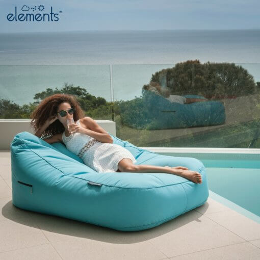 azurri blue satellite twin sofa bean bag outdoor shot 1