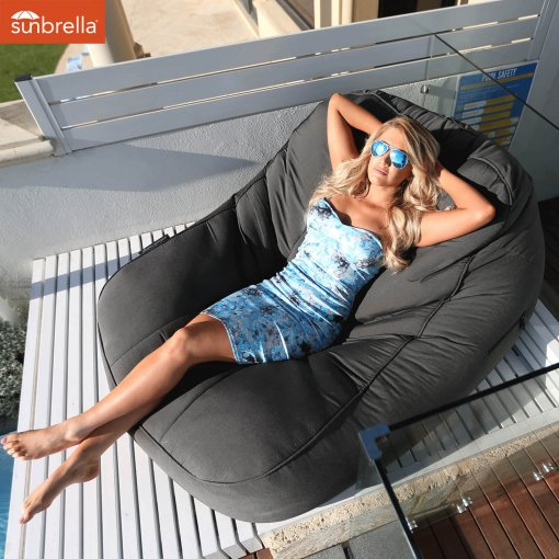 black rock satellite twin lounger for outdoor