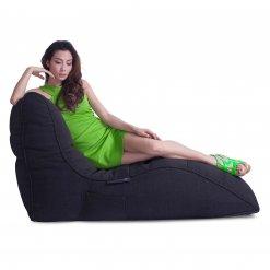 black sapphire avatar lounger bean bag side view
