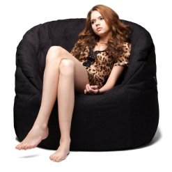 black sapphire butterfly bean bag with model