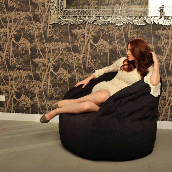 black sapphire butterfly bean bag lifestyle image