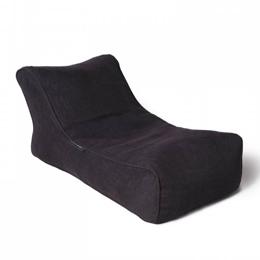 black sapphire studio lounger bean bag
