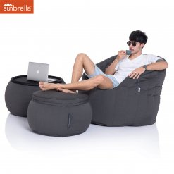 black sapphire versa table bean bag with butterfly sofa