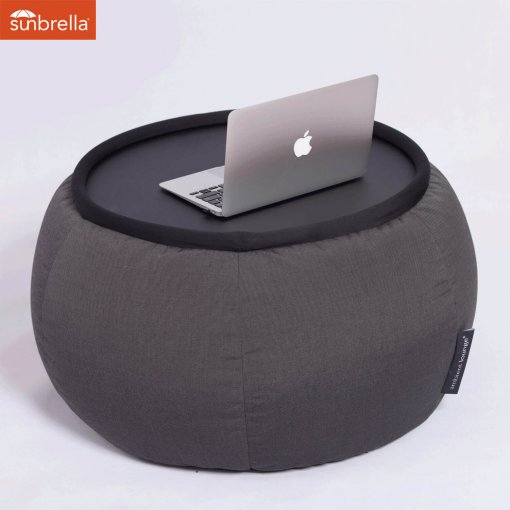 black sapphire versa table bean bag with table top