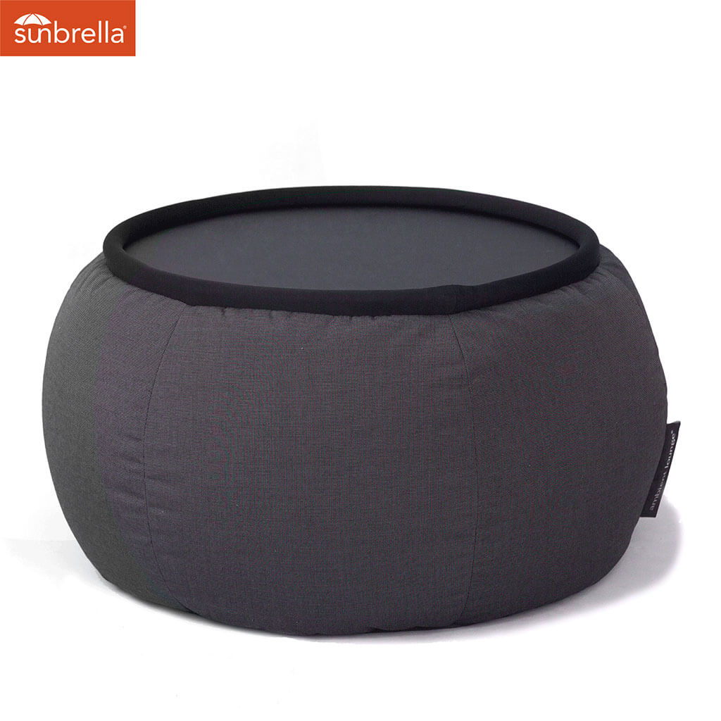 Delicieux Black Sapphire Versa Table Bean Bag