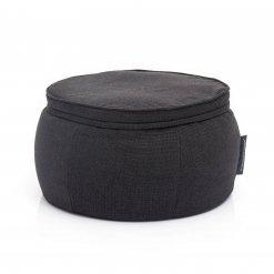 bean bags black sapphire wing ottoman bean bag zip view