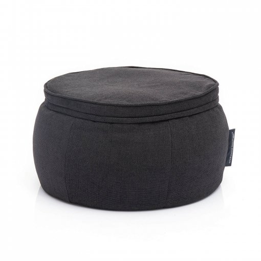 bean bags black sapphire wing ottoman bean bag zip view