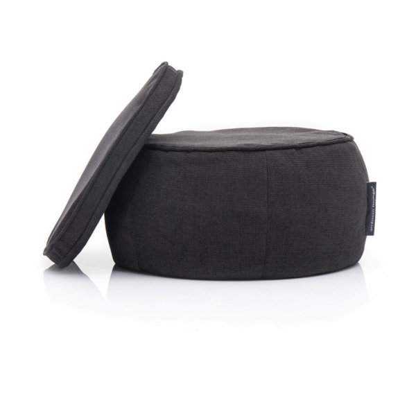 black sapphire wing ottoman bean bag zip view