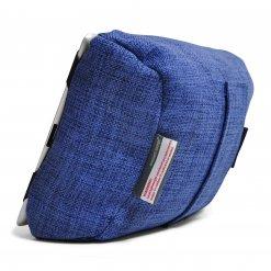 blue jazz tech pillow bean bag back view