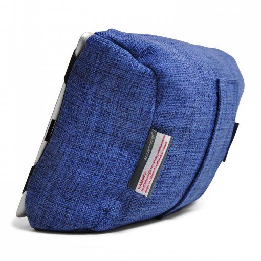 blue jazz tech pillow bean bag back view