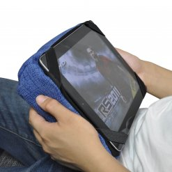 blue jazz tech pillow bean bag for ipad