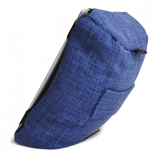 blue jazz tech pillow bean bag side view