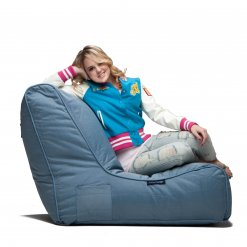 blue sky eclipse evolution sofa bean bag side view