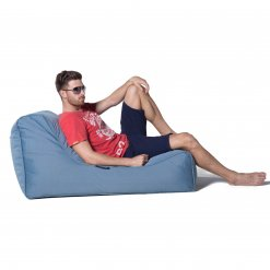 blue sky eclipse studio lounger bean bag side view