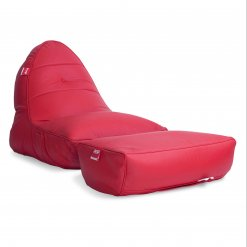 Bonded PU Leather bean bag set in totally well red 34 view