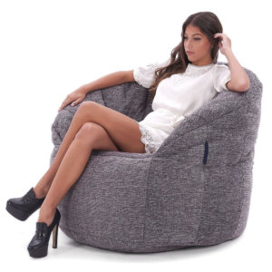 Butterfly bean bag sofa in Luscious Grey