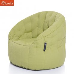 Lime Sunbrella outdoor bean bag sofa by ambient lounge