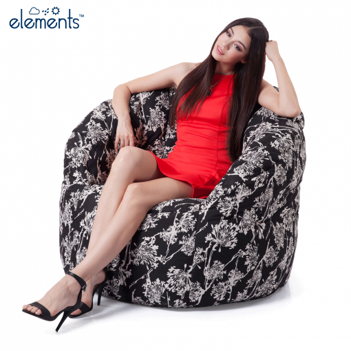 ambient lounge floral outdoor designer bean bag