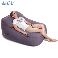 carefree grey satellite twin sofa bean bag with model 1