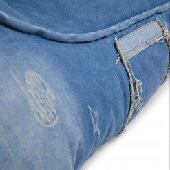Denim Jeanious bean bag set distress closeup