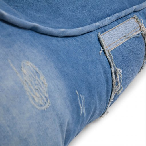 Denim Jeanious bean bag set distress closeup
