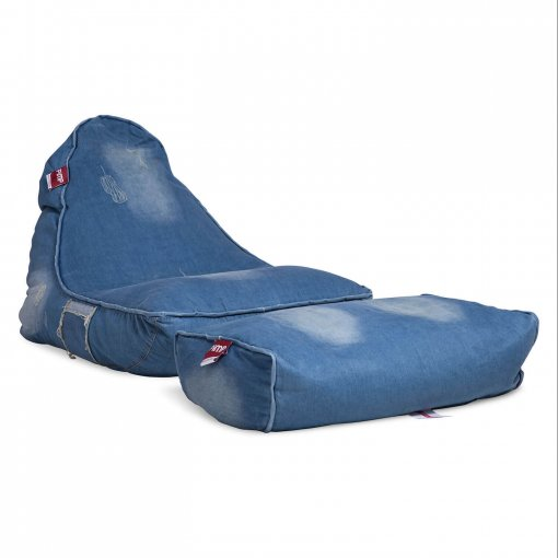 Denim Jeanious bean bag set front 3/4 view