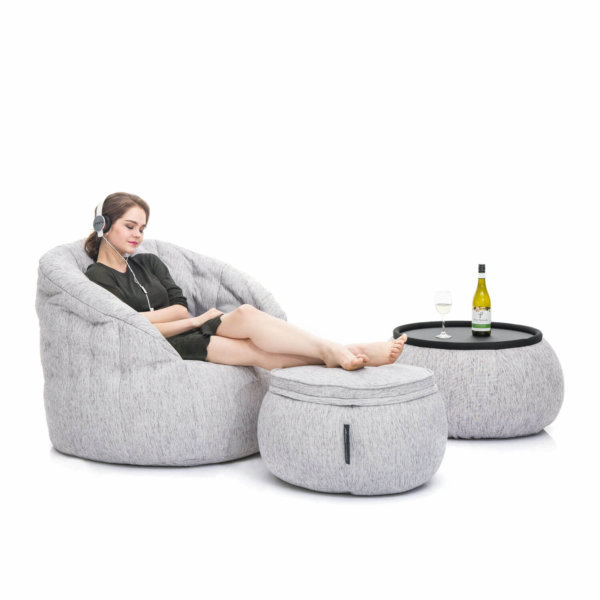 Designer bean bag set in Tundra spring