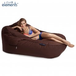 earthcore brown satellite twin lounger bean bag