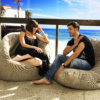 eco weave acoustic bean bag and butterfly sofa