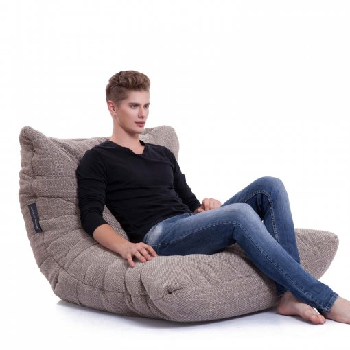 eco weave acoustic bean bag with model